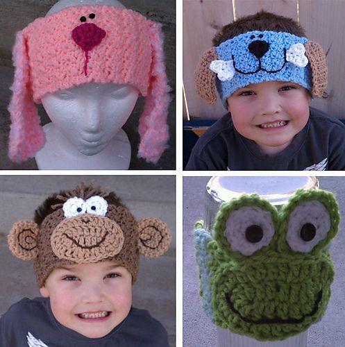 Animal Ear Warmers Crochet Hats Baby Headbands Crochet Crochet Ear Warmer