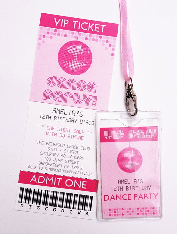 Disco Dance Birthday Party INSTANT DOWNLOAD Full By SIMONEmadeit