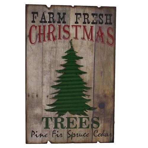Farm Fresh Christmas Tree Wall Sign #farmhousedecor Christmas in
