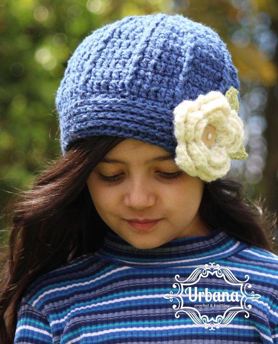 CROCHET HAT PATTERN - White Bloom Beret (Toddler, Child, Adult sizes)