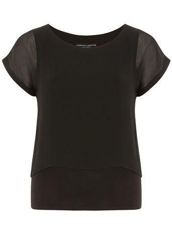 Black layered tee - Tops & T-Shirts  - Clothing