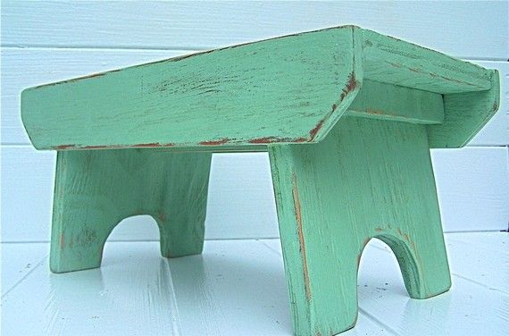 Handcrafted Vintage Style Step Stool No 1 In By Circlecreekhome Step Stool Stool Wood Crafts