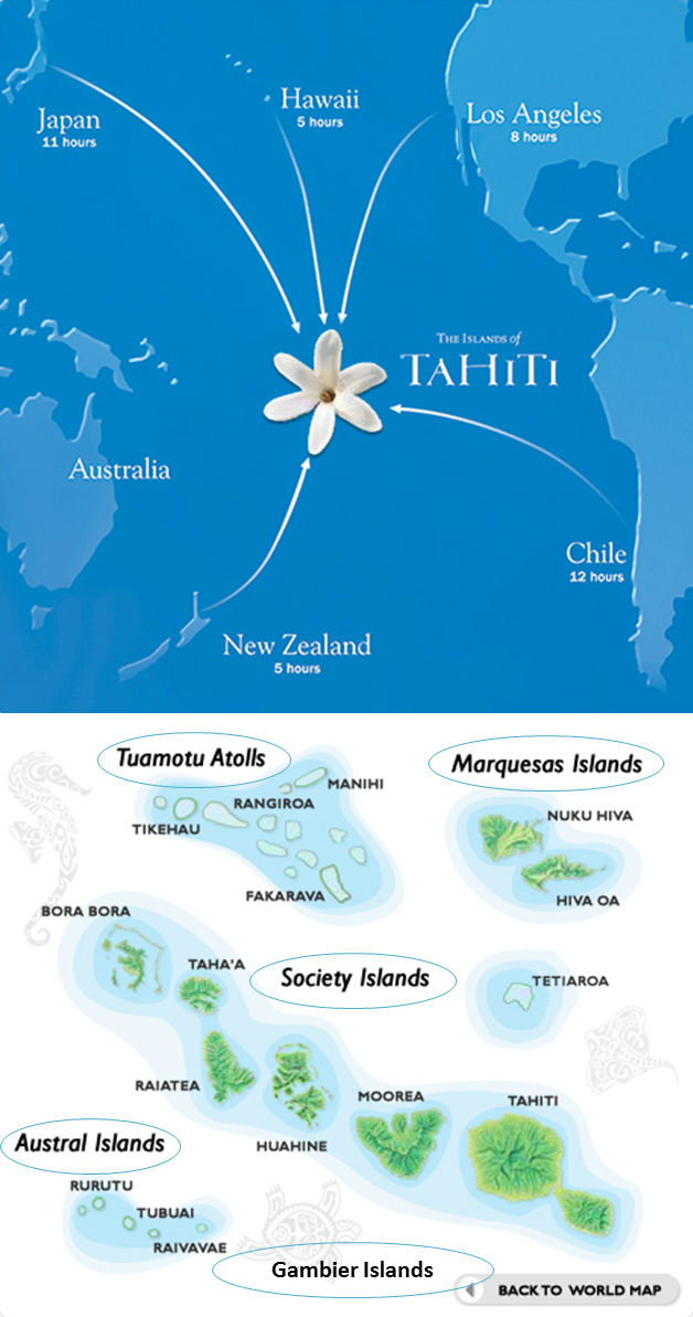 a group of islands in southern pacific ocean