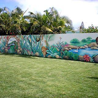 Park Bahçe Duvar Resmi Boyama örnek Duvar Resmi