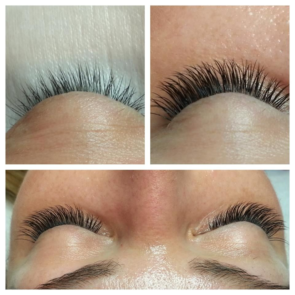 Full Set Of Eyelash Extensions Full Density For Great Definition And
