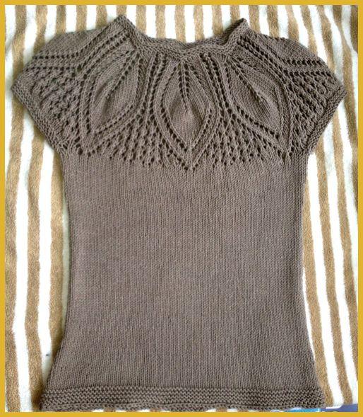 Photo of Leaf Yoke Top – Free Knitting Pattern