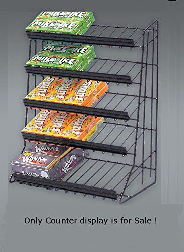 New Retail Shelf Counter Top Snack 5 Tier Candy Counter Black