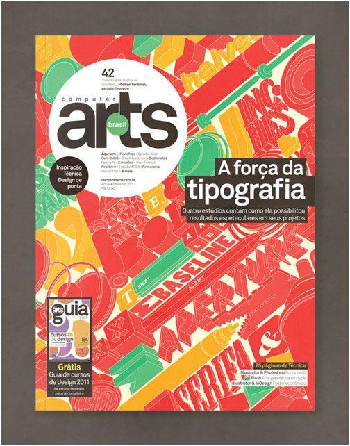 Showcase Of Creative Magazine Covers Design Typography Art Awesome Typo Magazine Holder