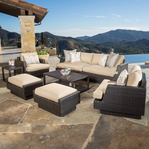 Wonderful Portofino Comfort 7 Piece Deep Seating Set In Espresso Costco
