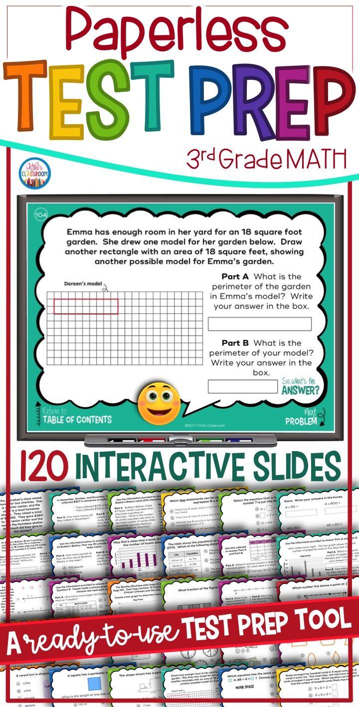 Math Review 3rd Grade: Paperless Math, SBAC Prep, PARCC Practice ...