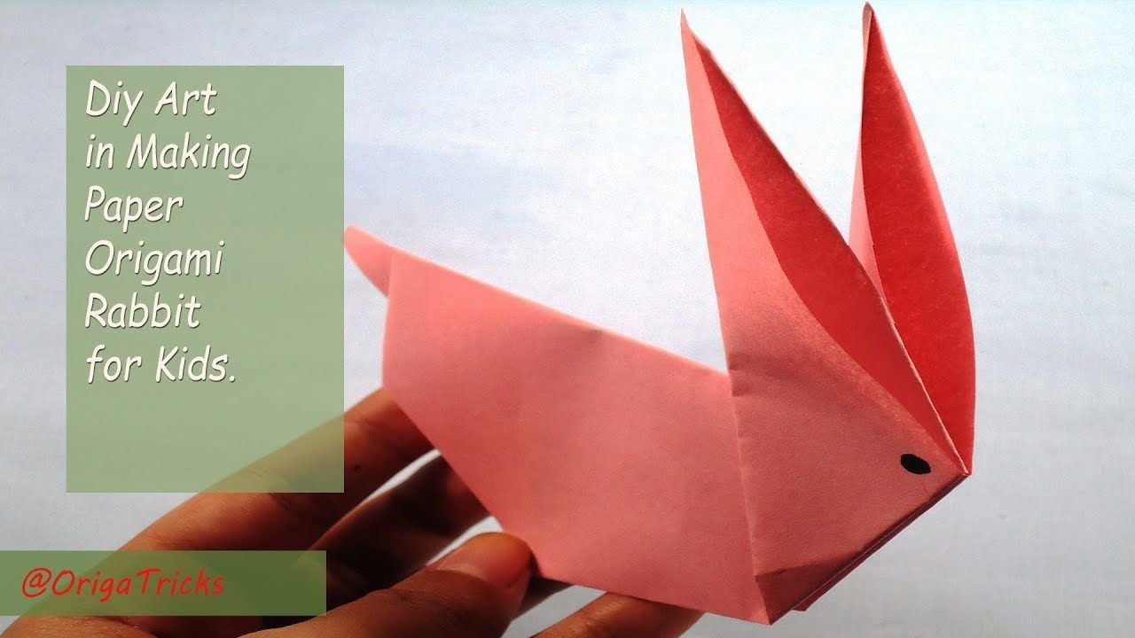 Diy Art In Making Paper Origami Rabbit For Kids