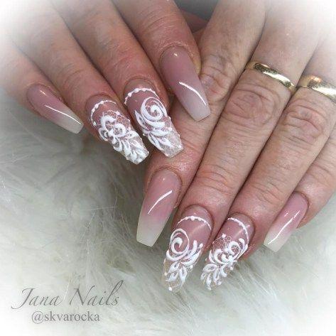 elegant gel nail art design 2018