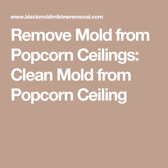 Remove Mold From Popcorn Ceilings Clean