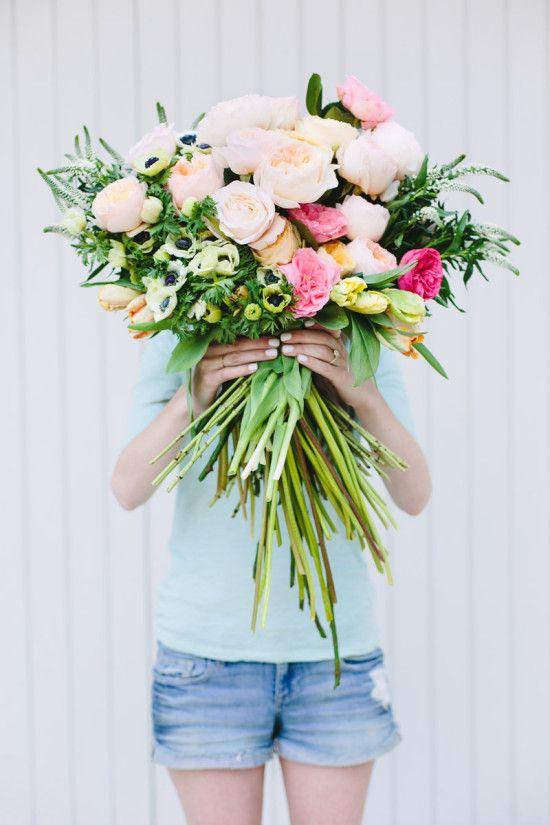 Make This: Giant DIY \'Flower Blocked\' Bouquet | Diy wedding bouquet ...