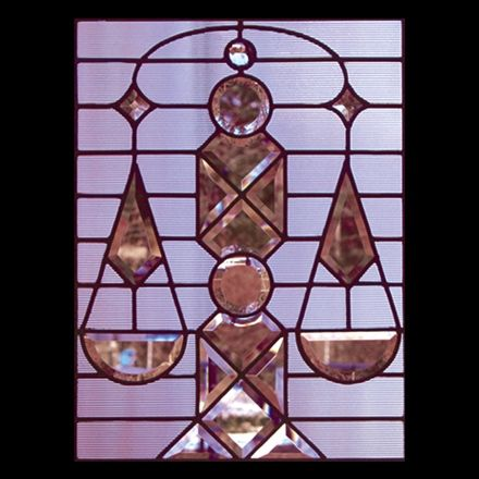 Zodiac stained glass patterns: Libra