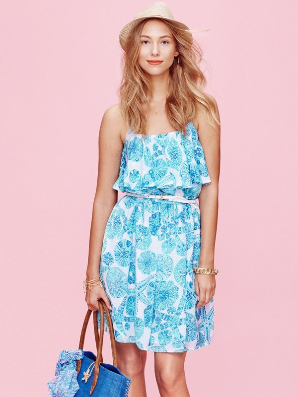 Lilly Pulitzer Target Sea Urchin for You Satin Flounce Ruffle Top ...
