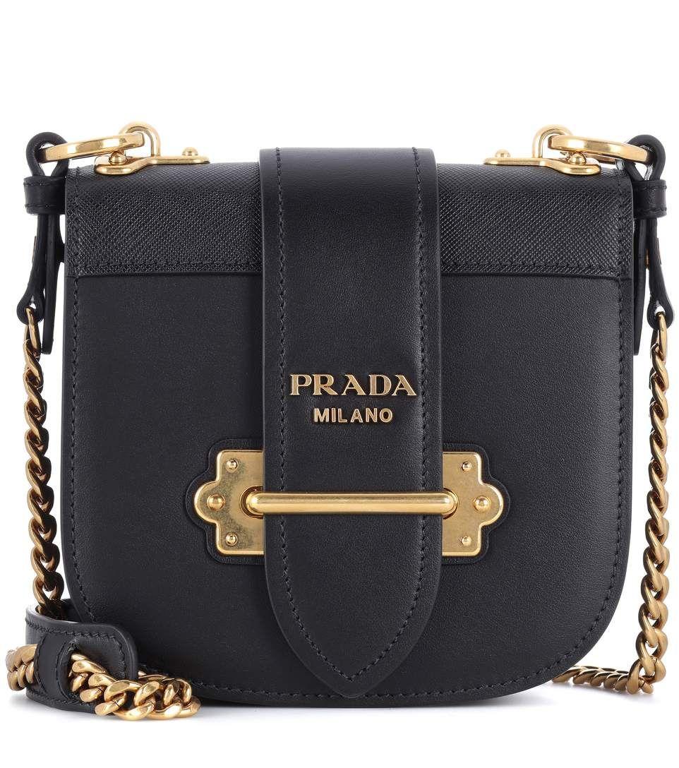 PRADA Pionnière Leather Shoulder Bag.  prada  bags  shoulder bags  leather   lining   d58462c436f