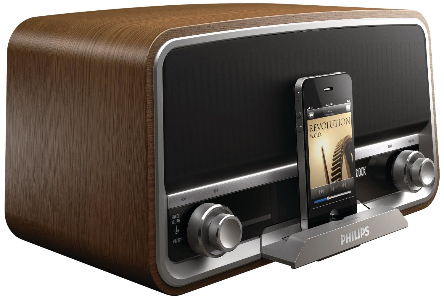 philips ord7300 10 dab fm original retro radio with. Black Bedroom Furniture Sets. Home Design Ideas