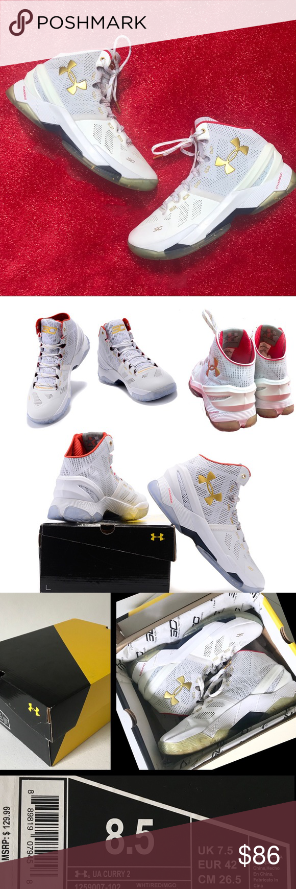 premium selection 72451 4bd0b Under Armour Curry 2 All Star Basketball Shoes 8.5 | My Posh ...