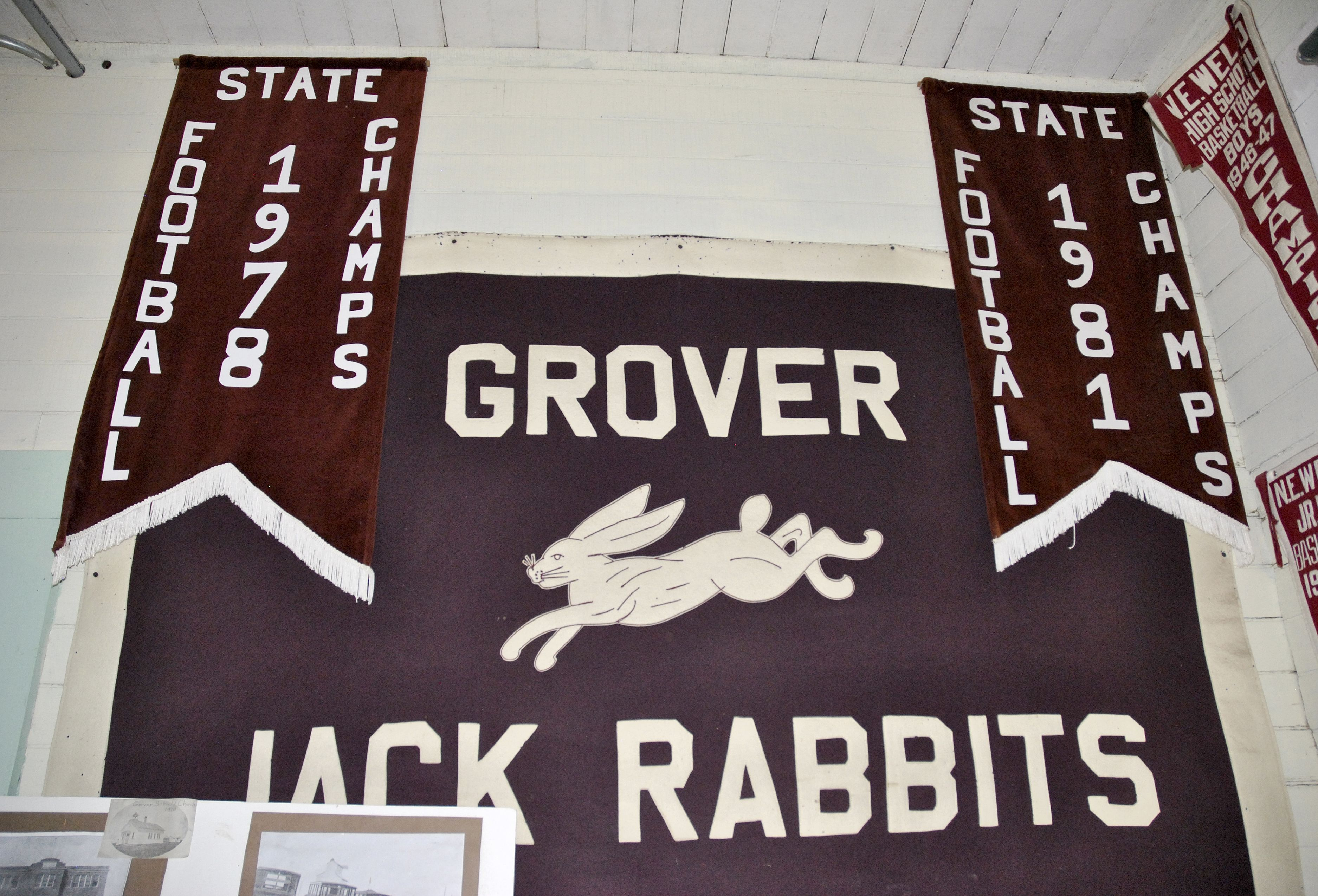 Display at the Grover Depot Museum. Arapahoe indians
