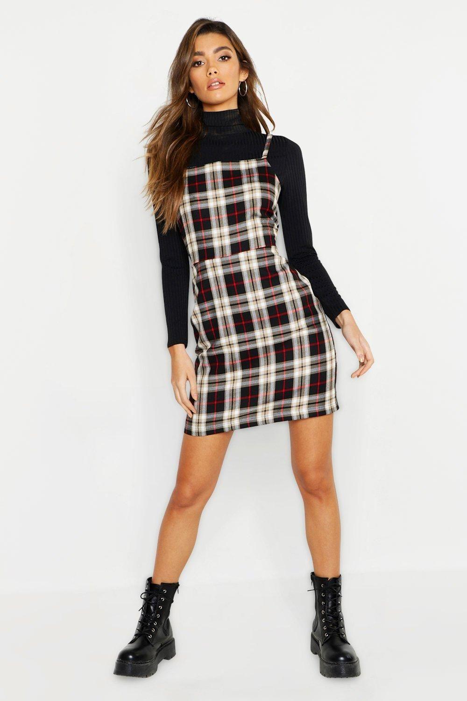 34118249f7 Tartan Square Neck Woven Pinafore Dress in 2019 | Fashion | Pinafore ...