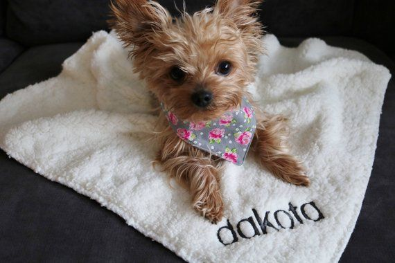 Blanket With Customized Picture Of Dog