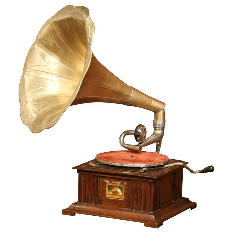 """Early 20th Century English """"His Master's Voice"""" Gramophone from ..."""