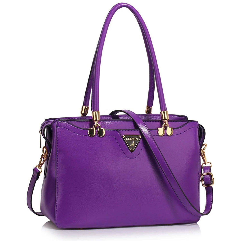 New Ladies Designer Faux Leather Style Cross Body Women Shoulder Bag Handbag UK