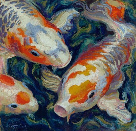 Rita kirkman koi pastel painting i adore koi fish the for Chinese koi fish for sale