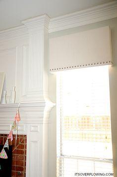 Diy Nailhead Cornice Board Makeover With Images Diy Window Shades Window Cornices Valance Window Treatments