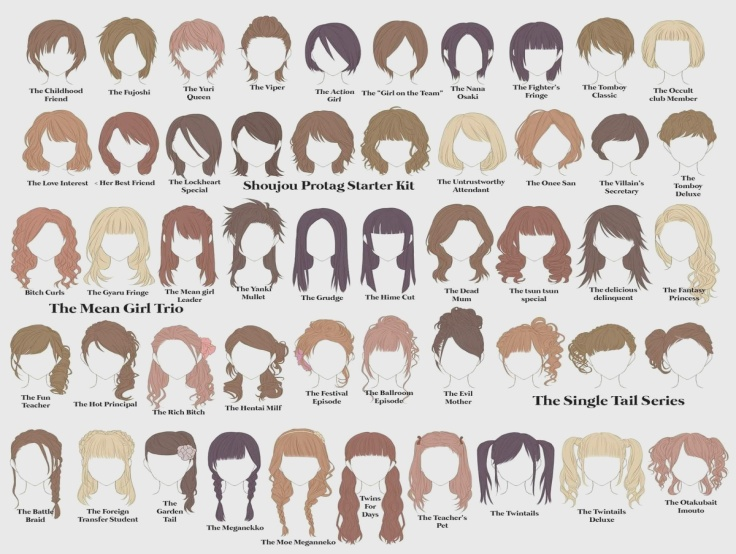 Anime Female Hairstyles Names Hair Maplestory Girl Hairstyles Names In 2020 Manga Hair Hair Sketch Anime Hair