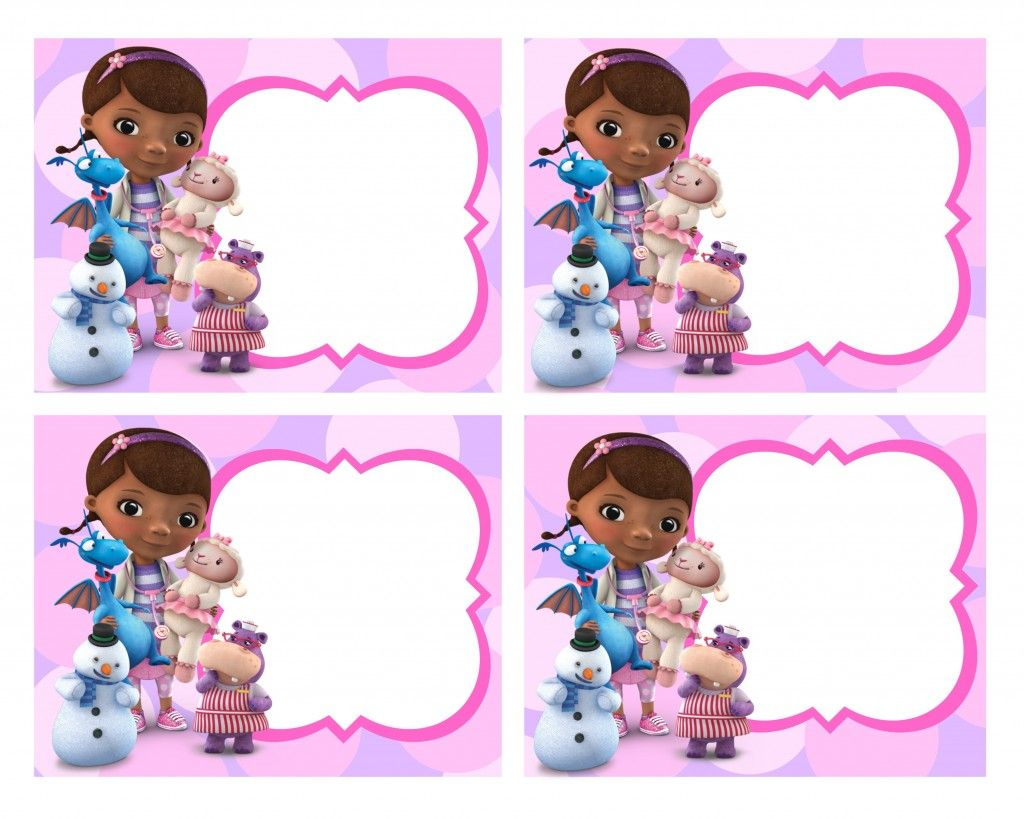 Doc McStuffins Free Printables | Lastly, of course you ...