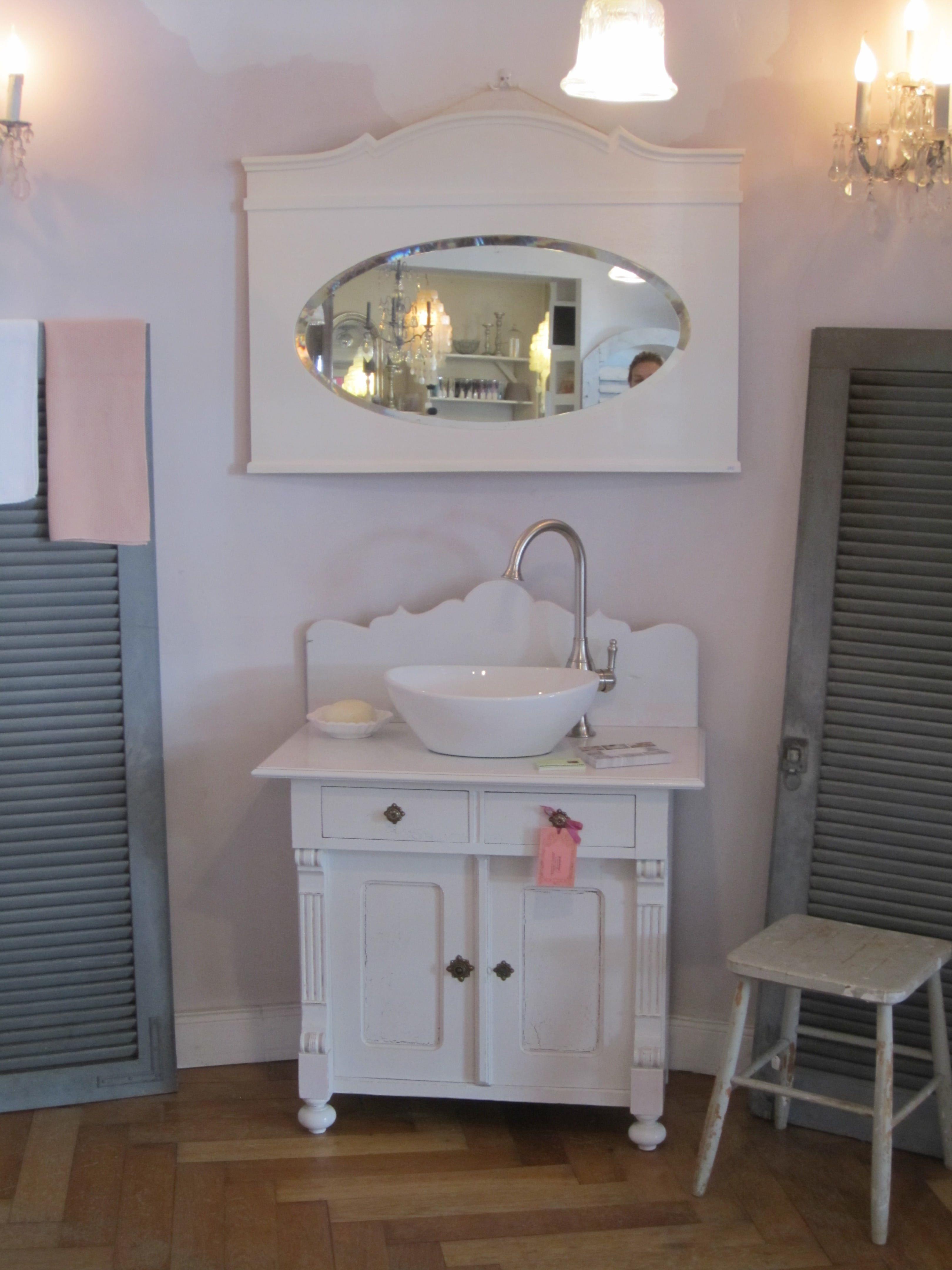 Waschtische Mittel Badezimmer Landhaus Waschtisch Und