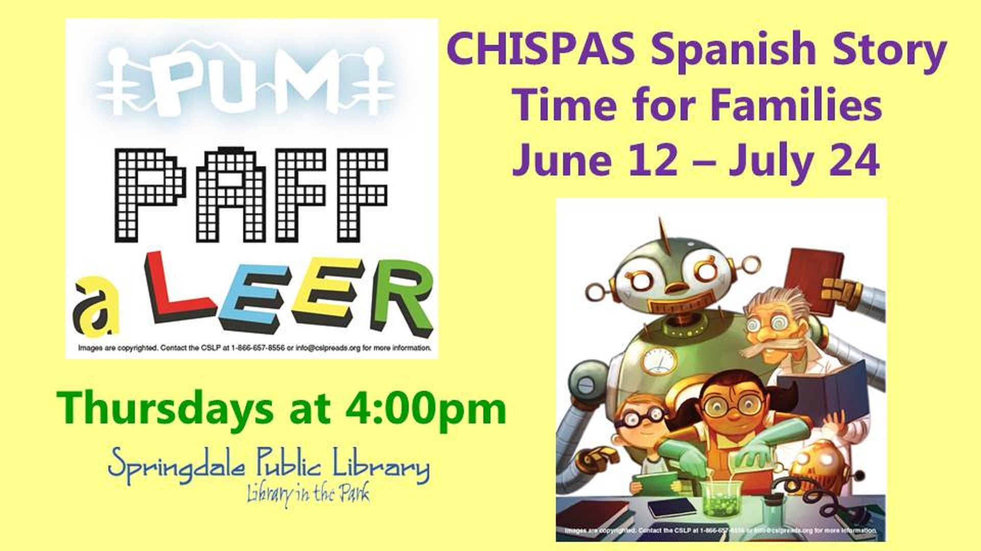 Chispas Spanish Story Time Starts Thursday June 12th