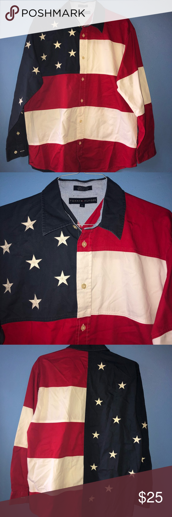 061dd0176 Tommy Hilfiger USA Vintage Shirt Tommy Hilfiger Vintage USA Shirt. Size L.  Has been