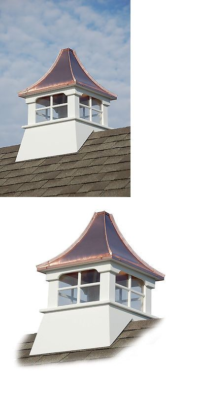 Exceptional Buy Cupola #2: Weathervanes 20512: Accentua Charleston Vinyl Cupola With Copper Roof, 24  In. Square,