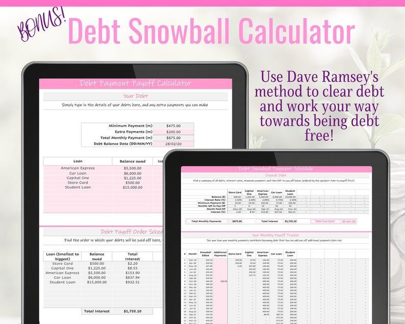 Budget Planner Spreadsheet. Excel Budget Template with