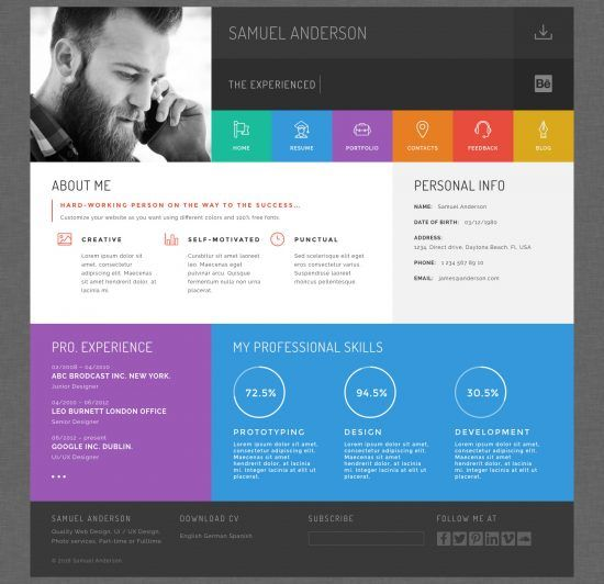 20+ Best Wordpress Resumes & VCard Themes For Your Online CV http ...