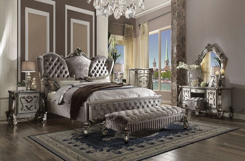 Platinum Bedroom Decor Ksa G Com, Stratford Gemma Platinum Queen Bed