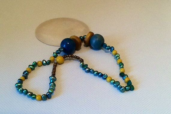 A Shell Beaded Pendant by ElainesJewells on Etsy, £15.00