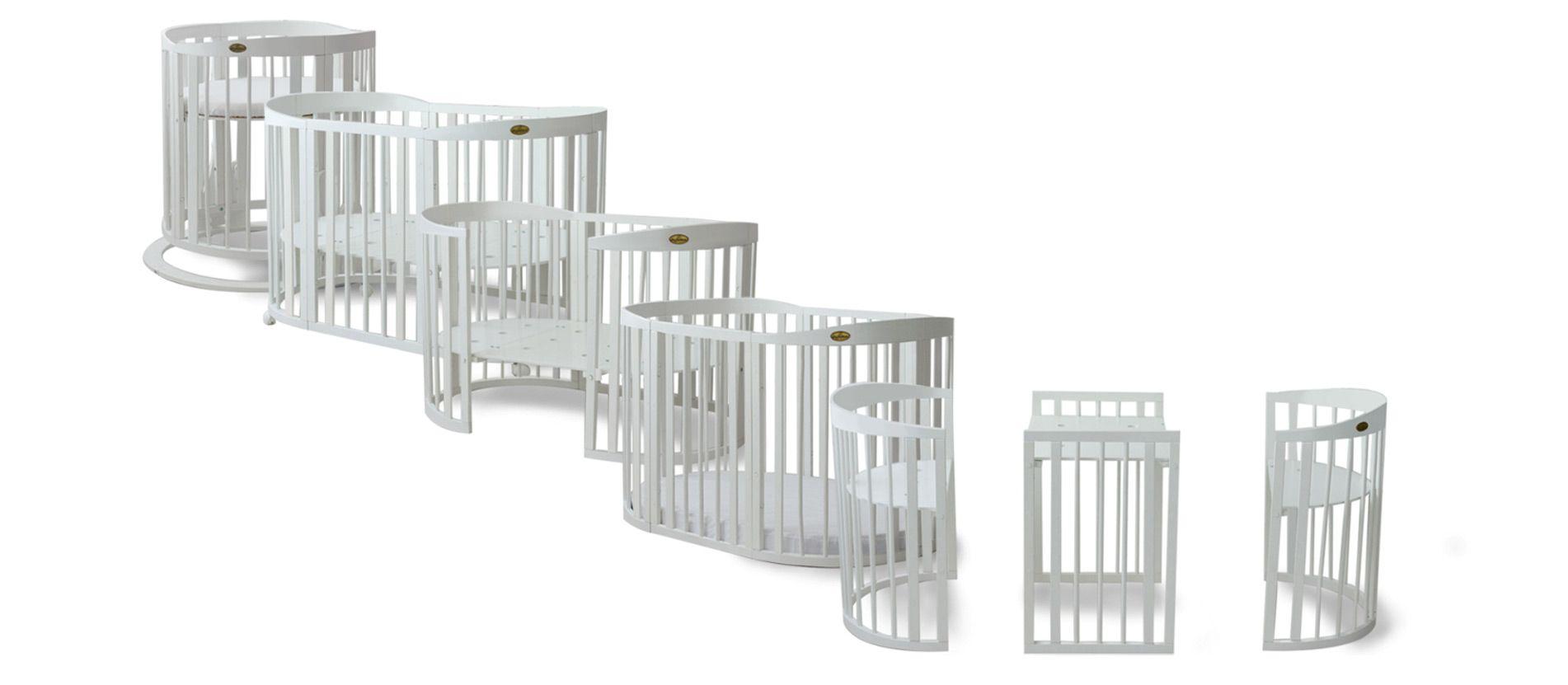 Comfortbaby Smartgrow 7 In 1 Funktionen Ovales Babybett Mit Bettset Babybett Comfortbaby Bett Beistellbett