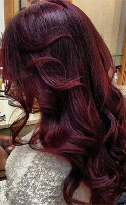 2017 Hair Color Trends Guide Aubergine Ears On The Very Violet Spectrum Of Your Wine Reds Its Deep Plum And Dark Red Hues Resemble