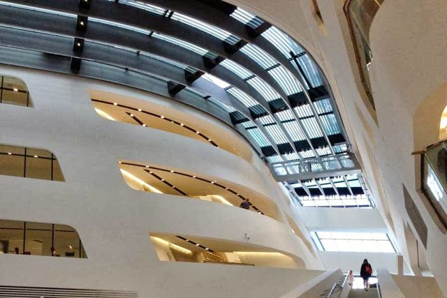 LIBRARY AND LEARNING CENTER BY ZAHA HADID ARCHITECTS