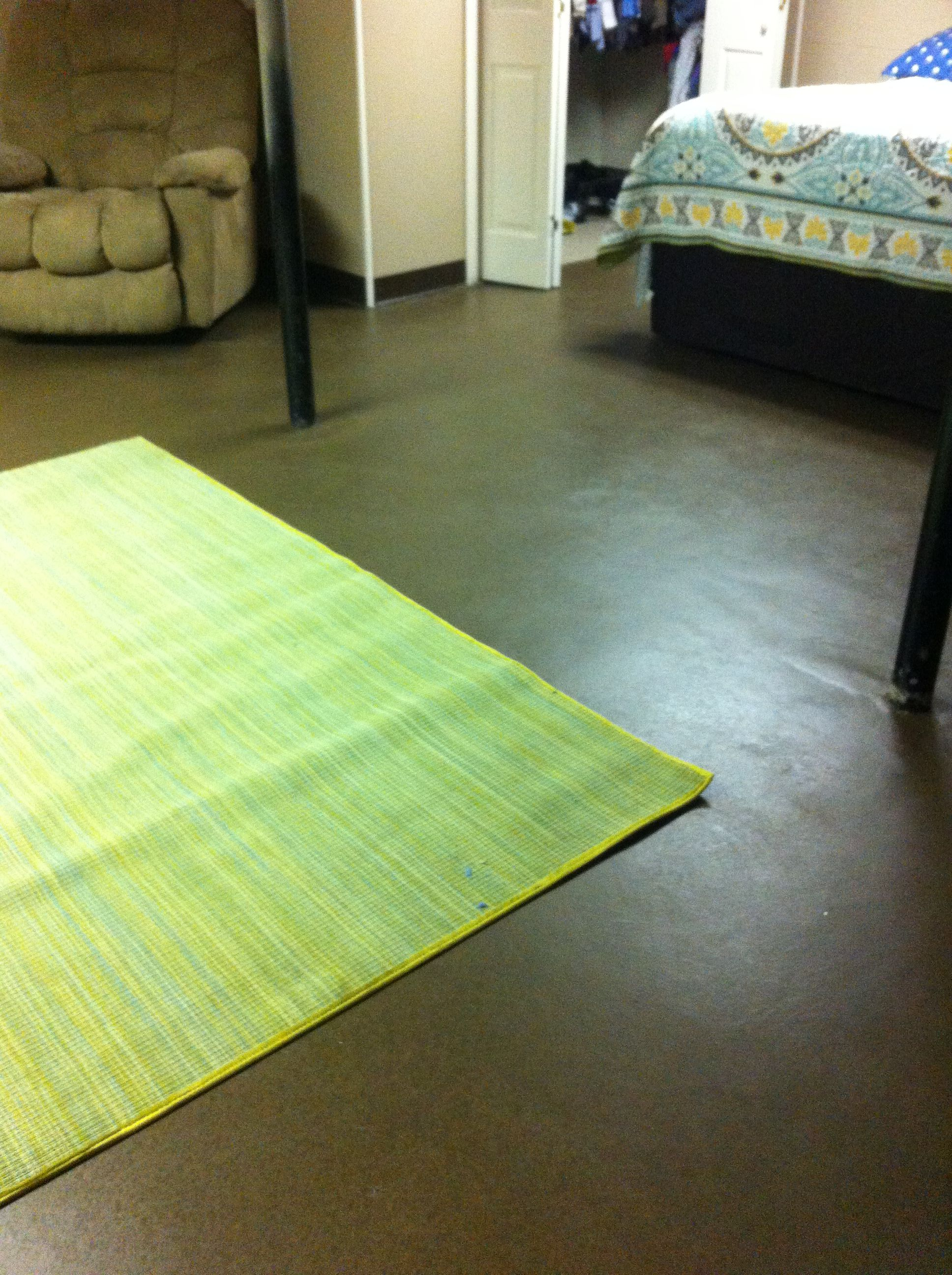 Bedroom Flooring Ideas Pinterest Painted Concrete Floors In Our Basement Bedroom Our Diy