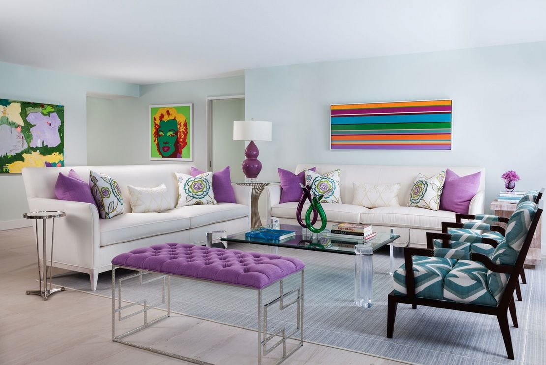 Design of this beautiful open space has a fresh mix of contemporary elements making the interior exciting to the eye  Living  Eclectic by Gil Walsh Interiors
