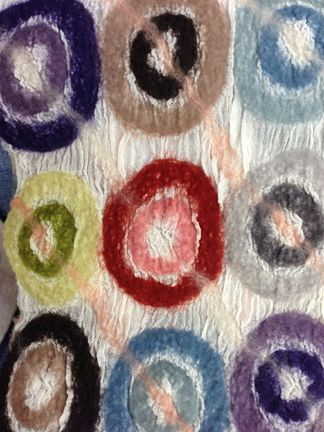 Laura Berman  Nuno felted fabric with ruched silk negative space http://www.lauragberman.com/