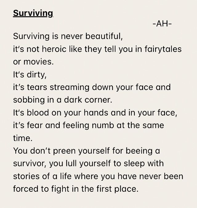 The truth about surviving