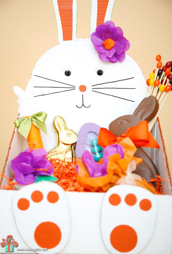 Diy bunny shaped easter basket to make from a cardboard box at diy bunny shaped easter basket to make from a cardboard box at non toy negle Choice Image