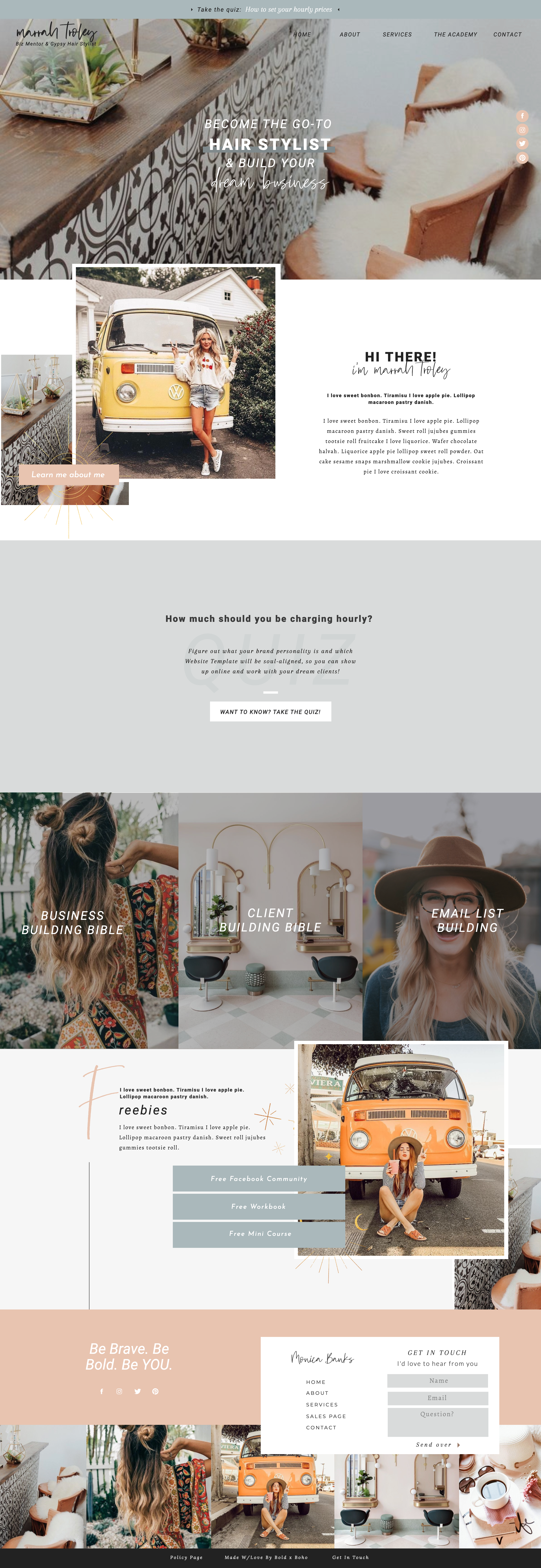 Showit Website Templates For Online Ambitious Entrepreneurs Ready For Their Next Level Boho Website Website Design Inspiration Showit Website