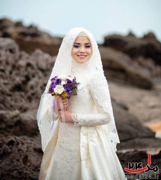 40 عکس از مدل لباس عروس پوشیده باحجاب زیبا جدید سال 2016 95 Gambar Perkawinan Pernikahan Pengantin